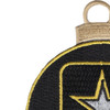 U.S. Army Emblem Christmas Tree Ornament | Upper Left Quadrant