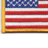 U.S. American Flag Patch Hook & Loop Backing | Lower Left Quadrant