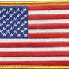 U.S. American Flag Patch Hook & Loop Backing | Center Detail