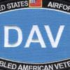 US Air Force DAV Disabled American Veteran Patch | Center Detail