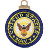 United States Navy Embroidered Christmas Tree Ornament