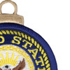 United States Navy Embroidered Christmas Tree Ornament | Upper Right Quadrant