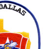 USS Dallas SSN-700  Nuclear Powered Attack Submarine Patch   Upper Right Quadrant