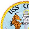 USS Coates DE-685 Destroyer Escort Ship Patch | Upper Left Quadrant