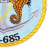 USS Coates DE-685 Destroyer Escort Ship Patch | Lower Right Quadrant