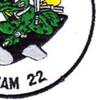 UDT 22 Underwater Demolition Team Unit Twenty Two Patch | Lower Right Quadrant