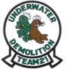 UDT-21 Underwater Demolition Team Seal Patch