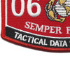 Tactical Data Specialist MOS Patch 0656   Lower Left Quadrant