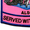Submarine Wives Also Serve With Pride Pink Patch   Lower Left Quadrant