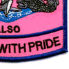 Submarine Wives Also Serve With Pride Pink Patch   Lower Right Quadrant