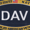 US Navy Ratings DAV Patch | Center Detail
