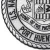 US Naval Construction Battalion Center Port Hueneme, Ca Patch | Lower Left Quadrant