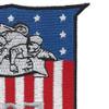 US Naval Construction Battalion 107 patch   Upper Right Quadrant