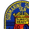 Submarine Squadron 10 Patch | Upper Left Quadrant