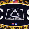 Submarine Administration Rating Culinary Specialist Patch | Center Detail