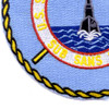 SS-486 USS Pomodon Patch - Version A   Lower Left Quadrant