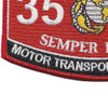3537 Motor Transport Ops Chief MOS Patch | Lower Left Quadrant