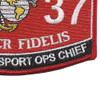3537 Motor Transport Ops Chief MOS Patch | Lower Right Quadrant