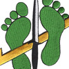 Special Tactics Squadron Jolly Green Feet Patch | Center Detail