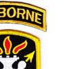 Special Forces Warfare School Flash Patch   Upper Right Quadrant