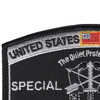 Special Forces Military Occupational Specialty MOS Patch De Oppresso Liber | Upper Left Quadrant
