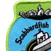 SS-397 USS Scabbard Fish Patch   Upper Left Quadrant