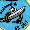 SS-397 USS Scabbard Fish Patch   Center Detail