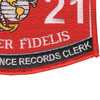 3421 Personal Finance Records Clerk MOS Patch | Lower Right Quadrant