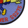 SS-275 USS Runner Patch | Lower Right Quadrant