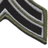 Sheriff Police Corporal Chevrons Black OD Patch | Lower Right Quadrant