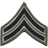 Sheriff Police Corporal Chevrons Black OD Patch