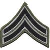 Sheriff Police Corporal Chevrons Black OD Patch