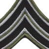 Sheriff Police Corporal Chevrons Black OD Patch | Center Detail