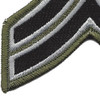 Sheriff Police Corporal Chevrons Black OD Patch | Lower Left Quadrant