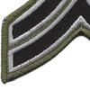 Sheriff Police Corporal Chevrons Black OD Patch | Lower Left Quadrant