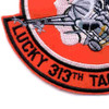 313 Tactical Fighter Squadron Patch | Lower Left Quadrant