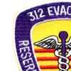 312 Medical Evacuation Hospital Patch | Upper Left Quadrant