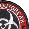 Zombie Outbreak Response Team Patch Hook And Loop | Upper Right Quadrant