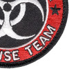 Zombie Outbreak Response Team Patch Hook And Loop | Lower Right Quadrant