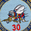 30th Naval Construction Regiment Patch United States Pacific Fleet | Center Detail