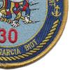 30th Naval Construction Regiment Detachment Diego Garcia Patch | Lower Right Quadrant
