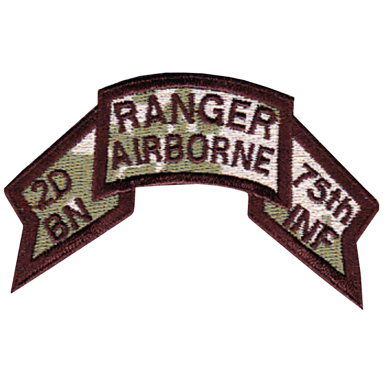 2-75 Inf AIRBORNE RANGER 74-84 USAF ALO scroll patch I