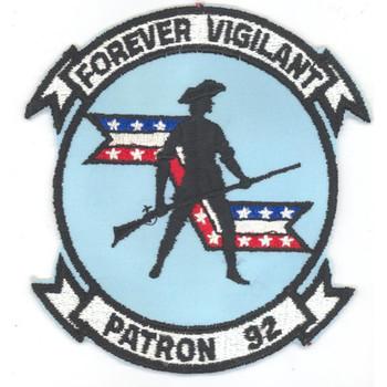 VP-92 Patch Forever Vigilant Patron 92