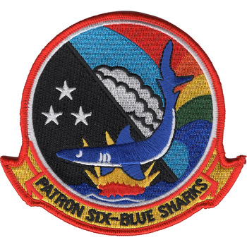 VP-6 Blue Sharks Patrol Squadron Patch
