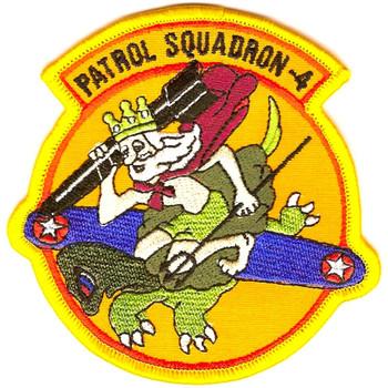 VP-4 Patrol Squadron Small Version Patch