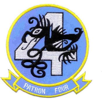 VP-4 Patrol Squadron Skinny Dragons Small Version Patch