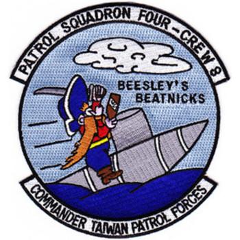 VP-4 Patch Crew W8  Beesley's Beatnicks