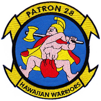 VP-28 Aviation Patrol Squadron Hawaiian Warriors A Version Patch