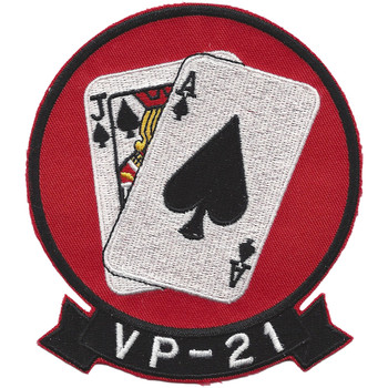 VP-21 Patrol Squadron Patch Black Jacks