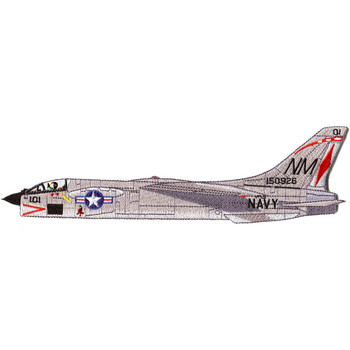 Vought F-8 Crusader Detailed Side view Patch